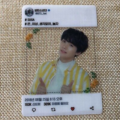BTS SUGA / Love Yourself Concert Official Army Booth Transparent Photocard /N/+G