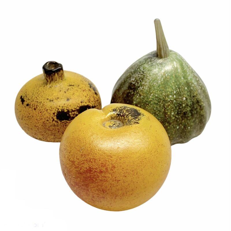 Gozo Glass Malta Venetian Art Glass Gourd Pomegranate Peach Mediterranean Decor