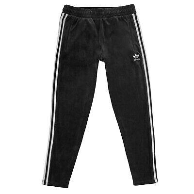 Small Adidas Originals Mens Velor Velvet 'Cozy' Track Pant In Black DX3627