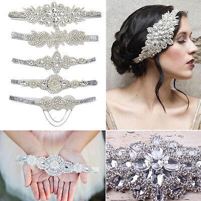 Silver Headband Rhinestone Pearls 1920s Great Gatsby Flapper Tassels Headpiece