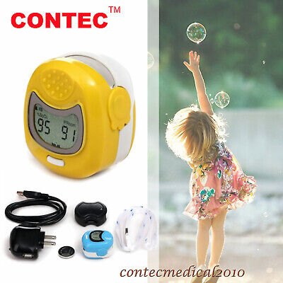 Lcd Finger Tip Pulse Oximeter Spo2 Sensor O2 Monitor For Kids Child Pediatric