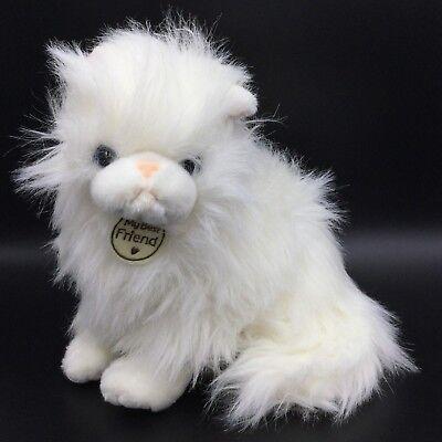 Hallmark My Best Friend White Long Hair Blue Eyes Cat Plush Soft Toy Stuffed