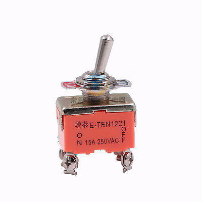 Micro Toggle Switch 12mm On-off 4 Pin 2 Position 15a 250v Power Control