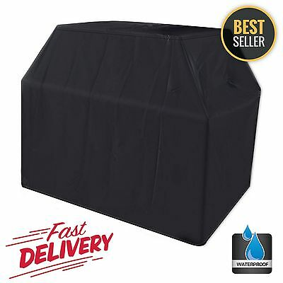 """BBQ Gas Grill Cover Black 64"""" Barbecue Protection Waterproof Outdoor Weber Large"""