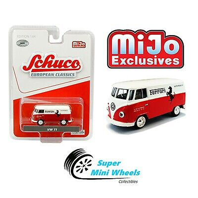 Schuco 1:64 Volkswagen T1 Panel Bus - Ferrari Automobiles (Red)  [In-Stock]