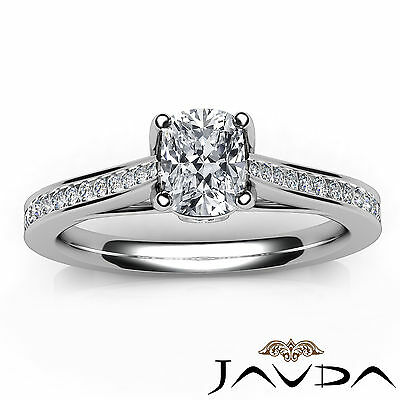 Bezel Channel Set Comfort Fit Cushion Diamond Engagement Ring GIA G VS2 0.7 Ct 3