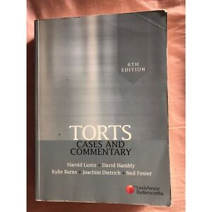 Torts Law text book