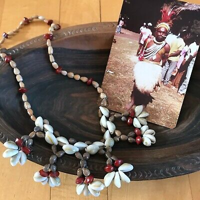 Rare Collectible Papua New Guinea Seed and Shell Necklace