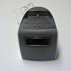 iHome iPL22 Stereo FM Clock Radio w/ Lightning Dock Charge/Play for iPhone