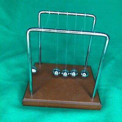 Vintage Newtons Steel Balance Balls Desk Decor Toy Physics Science Pendulum