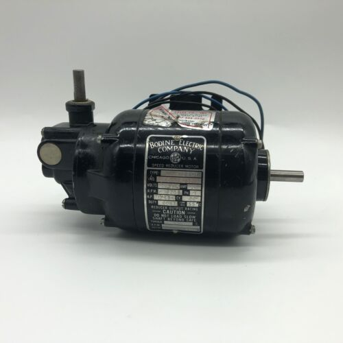 Bodine Electric Gear Speed Reduction Motor NSI-12RA1 115v AC 1/70 HP 1725 RPM