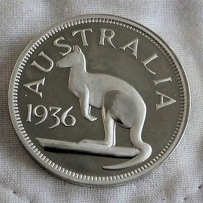 EDWARD VIII AUSTRALIA 1936 PATTERN PLAIN EDGE SILVER PROOF CROWN