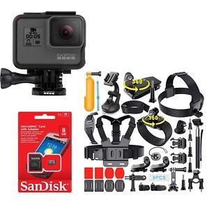 GoPro HERO5 Black 12 MP 4K Camera CHDHX-501 + 40PCS Extreme Sports Package!