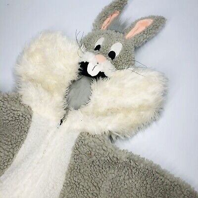 Bugs Bunny Plush Halloween Costume From Warner Bros Child/Pre-teen Sized XS (QQ)