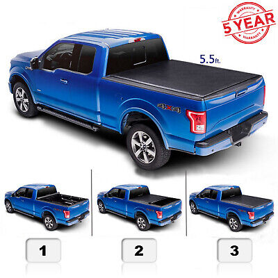 5.5 FT Roll Up Tonneau Cover For 04-14 F150 06-14 Mark LT Pickup Truck
