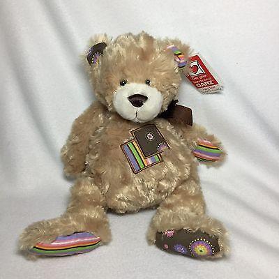 Patchwork Bear (Ganz Patchwork Tan Bear Teddy Plush Tags Soft Toy H11508 Stuffed 12