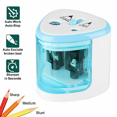 Electric Pencil Sharpener Automatic Touch Switch Office School Classroom For Kid