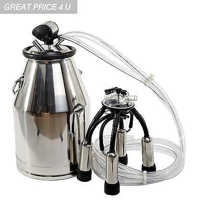 Top Quality 304 Stainless Steel Milk Bucket  Cow Milking Equipment Cow Milker