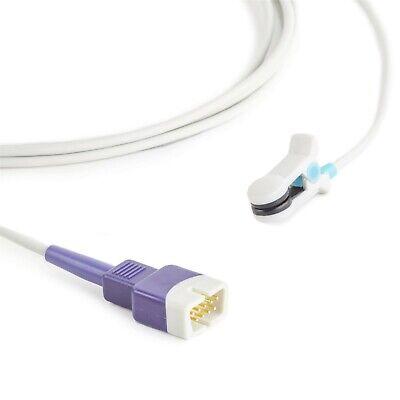 Nellcor Compatible Oximax Ear Clip Spo2 Sensor Db9 9 Pin Connector 10 Cable New