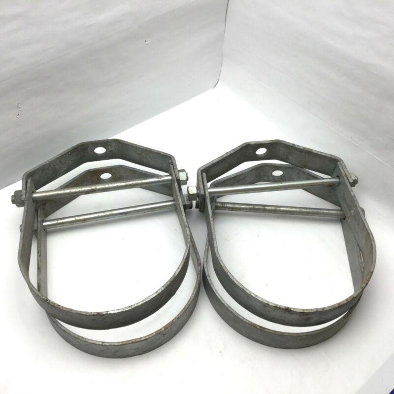"""(Lot of 4) 9"""" Clevis Hanger Galvanized Steel Adjustable Overhead Pipe Hangers"""