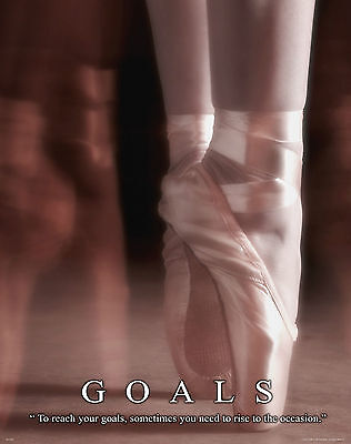 Ballet Dance Motivational Poster Art Print Shoes Flats Tutu Leotard Skirt Mvp254