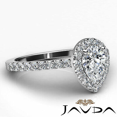 Shared Prong Pear Shape Diamond Engagement Ring GIA Certified F Color VS2 1 Ct 2