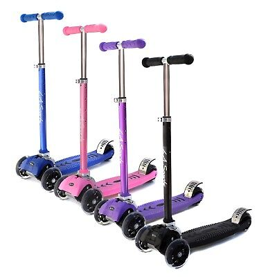 3 Wheel Scooter Kids V2 Three wheel Scooter Kick in 4 Colours with LED Wheels ()