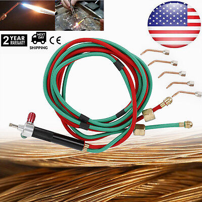 Micro-gas Torch Mini Gas Little Torch Welding Soldering Kit With 5 Tips 6000 Us