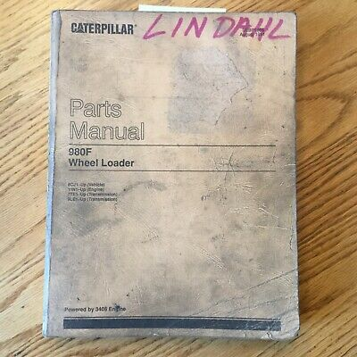 Cat Caterpillar 980f Parts Manual Catalog Book Wheel Loader 3406 Sn 8cj1 Up