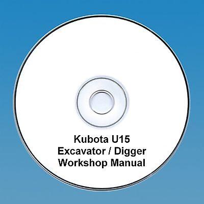Kubota U15 Excavator / Digger - Workshop Manual.