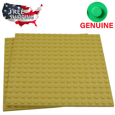 x2 Lego Bright Light Yellow Baseplates Base Plates Brick Building 16 x 16 Dots