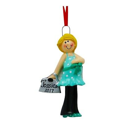 PERSONALIZED Expecting Baby Pregnant Mom Blonde Love The Bump Christmas Ornament ()