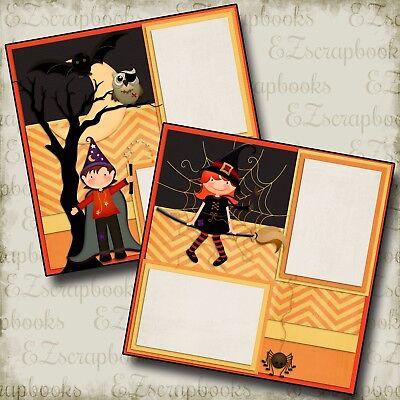 KIDS of HALLOWEEN - Premade Scrapbook Pages - EZ Layout 352](Halloween Scrapbooking Layouts)