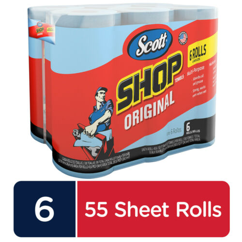 Scott Professional Multi-Purpose Shop Towels, 55 Sheets per Roll, 6 Ct NEW