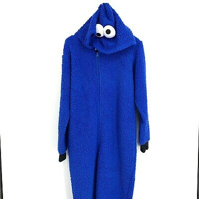 XS Sesame Street Cookie Monster Costume Pajamas adult Halloween C021