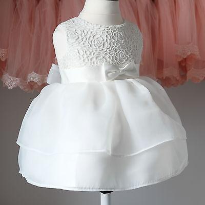 Taufkleid Festkleid Blumenmädchen Baby Kleid Spitze 62 - 92 (BM11)