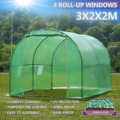 3mx2m Walk-in Greenhouse Polly Tunnel Patio Garden Outdoor Polytunnel Frame for sale  United Kingdom
