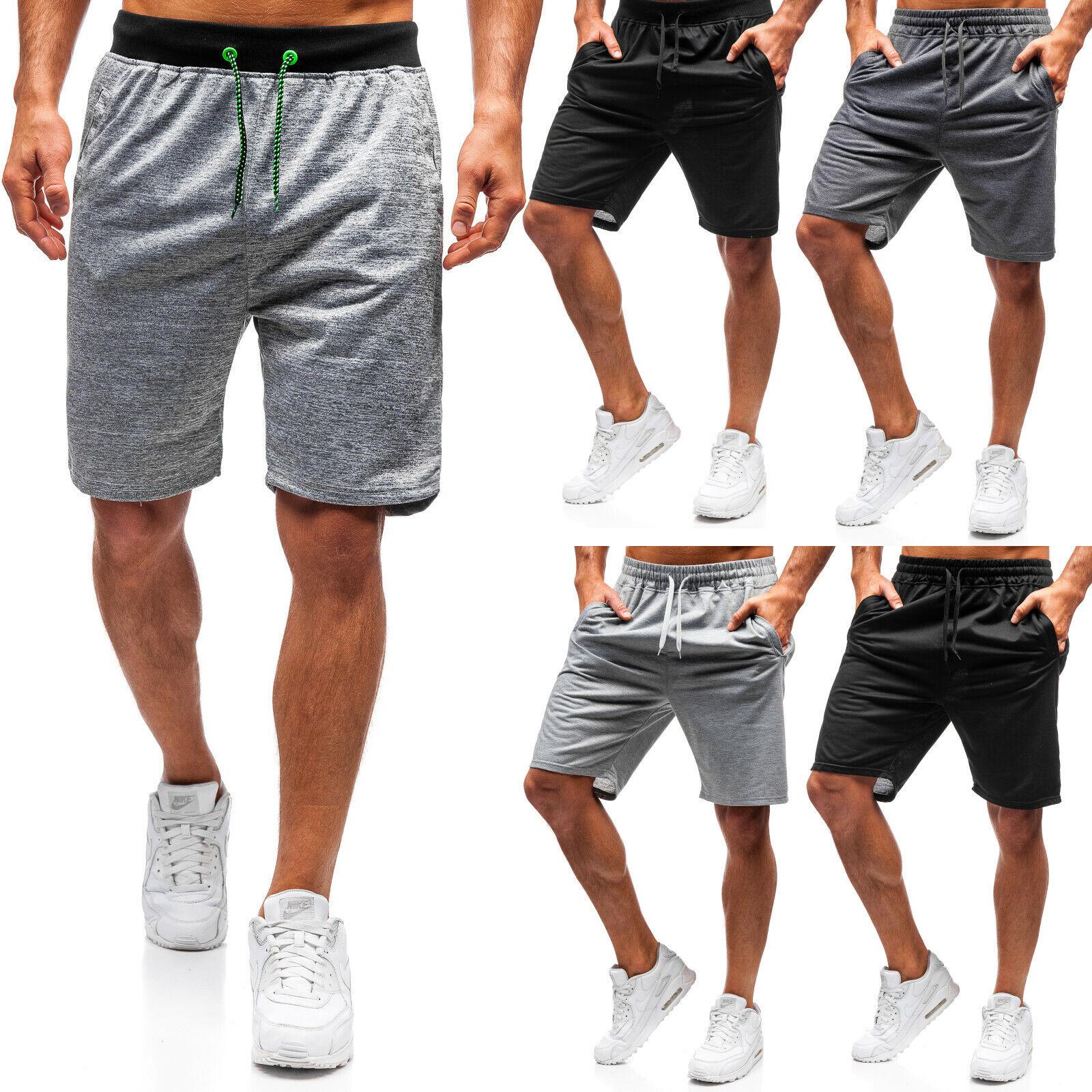 Shorts Bermudas Kurzhose Sporthose Jogging Sport Herren Mix BOLF 7G7 Unifarben