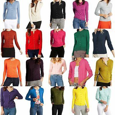 Ladies Womens Debenham Round Neck Button Up Cardigan Jumper Sweater Tops 8-26