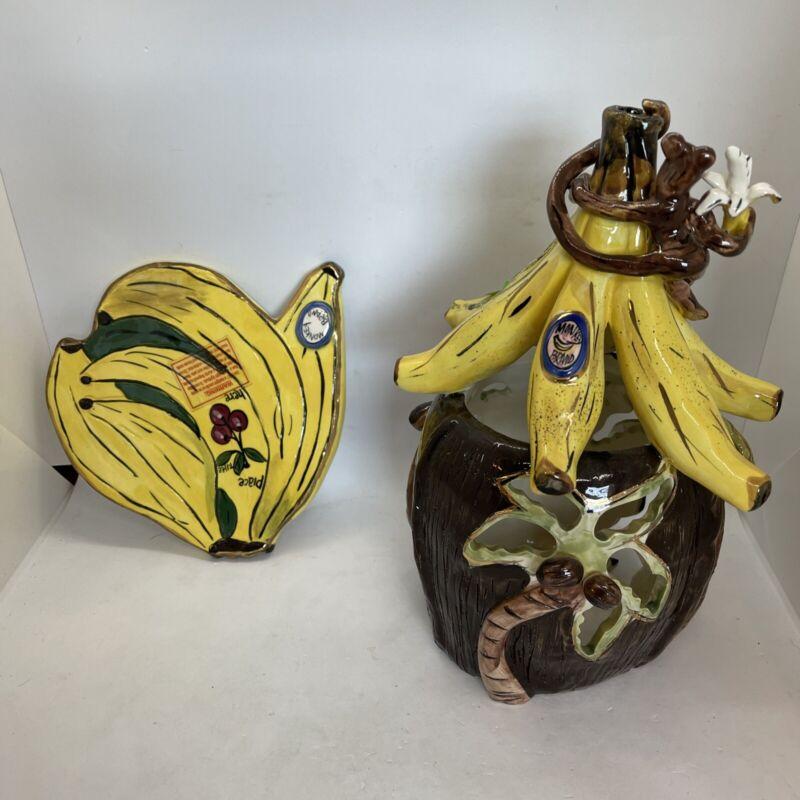 Blue Sky Clayworks Banana Cabana Tealight Holder from Heather Goldminc 2001
