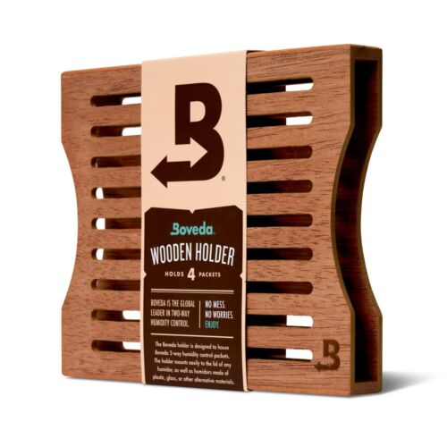 Boveda Wood Holder for Humidor | Use with Four (4) Size 60 Boveda | 1-Count