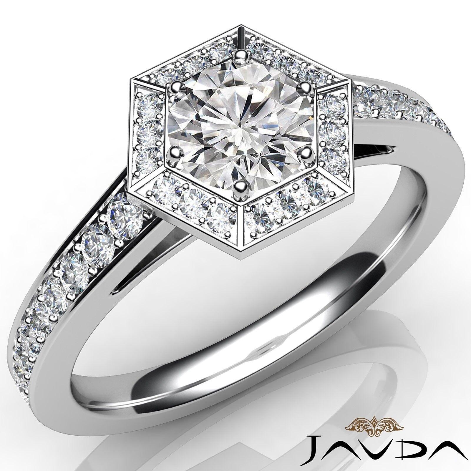1.2ctw Comfort Fit Round Diamond Engagement Ring GIA E-VVS1 White Gold Women New