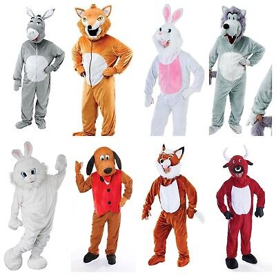 ADULT BIG HEAD MASCOT UNISEX ANIMAL FUNNY FANCY DRESS COSTUMES PANTO - Adult Nativity Costumes