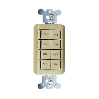 New Nlight Sensor Switch Npodm 4P Iv Push Button Scene Wallpod   8 Button  Ivory