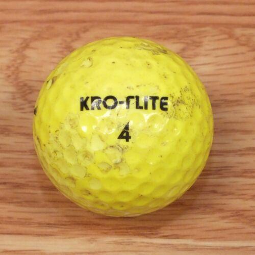 Genuine Spalding Kro-Flite 4 Neon Green / Yellow Golf Ball Only **READ**