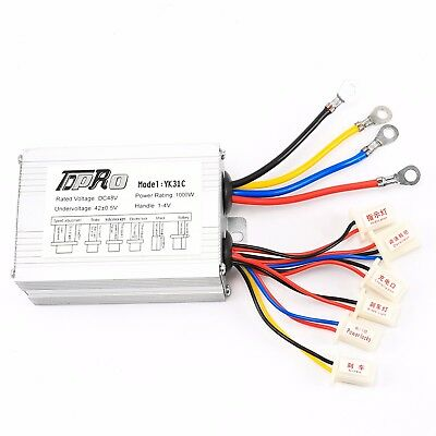48v 1000w Electric Bicycle E-bike Scooter Brush Dc Motor Speed Controller Box Us