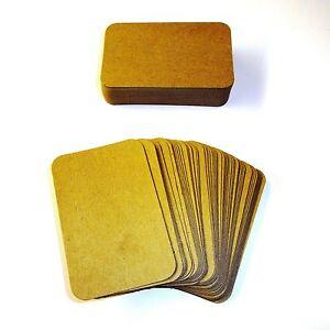 Blank business cards ebay 100 x kraft rounded corner blank business cards 270gsm colourmoves