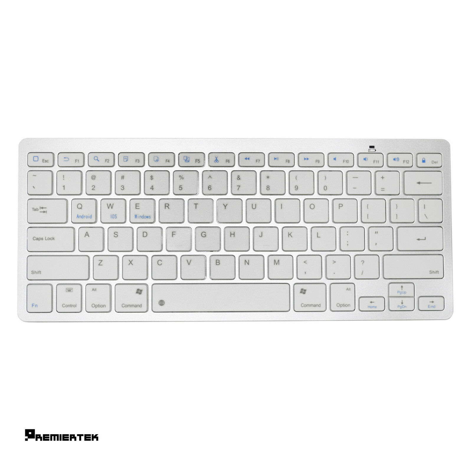 Premiertek Wireless Bluetooth V3.0 Slim Keyboard for PC/MAC/