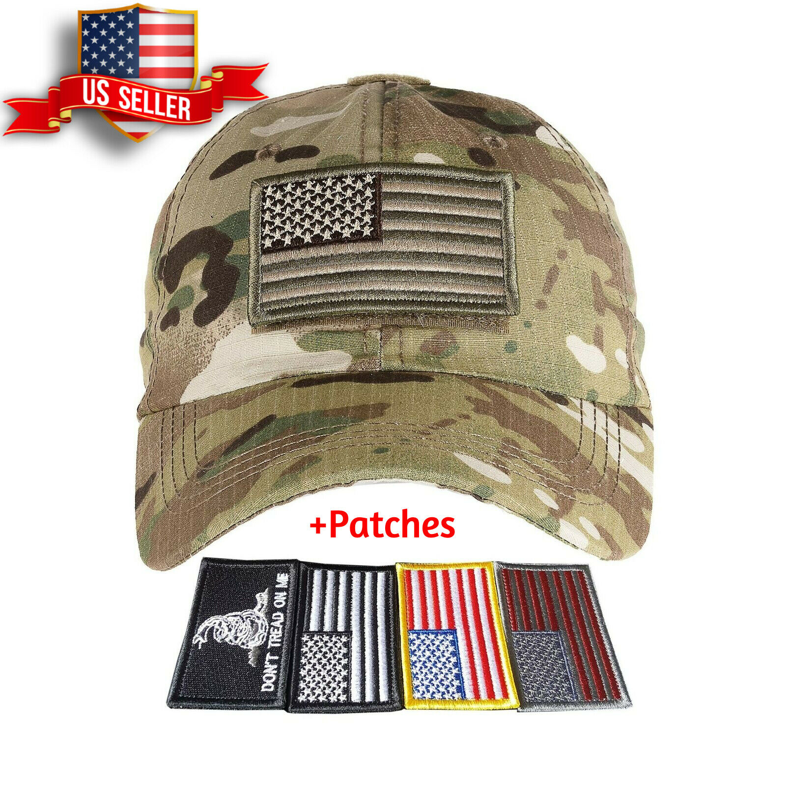 Special Forces Operator Tactical Baseball Hat Cap with 2 Embroidered Patch New
