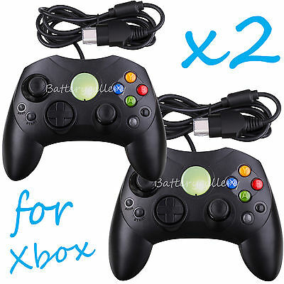 2 LOT NEW Black Controller Control Pad for Original Microsoft XBOX X System
